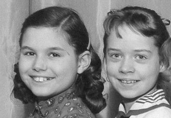 Ginny and Barb, 5th Grade, 1959